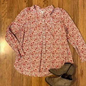 Old Navy Button-down Shirt with floral pattern